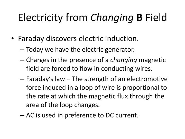 Electricity from
