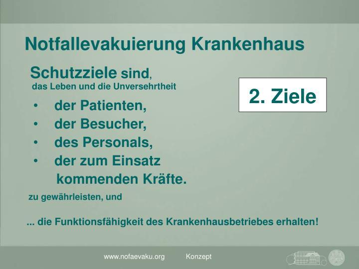 ... die Funktionsfähigkeit des Krankenhausbetriebes erhalten!