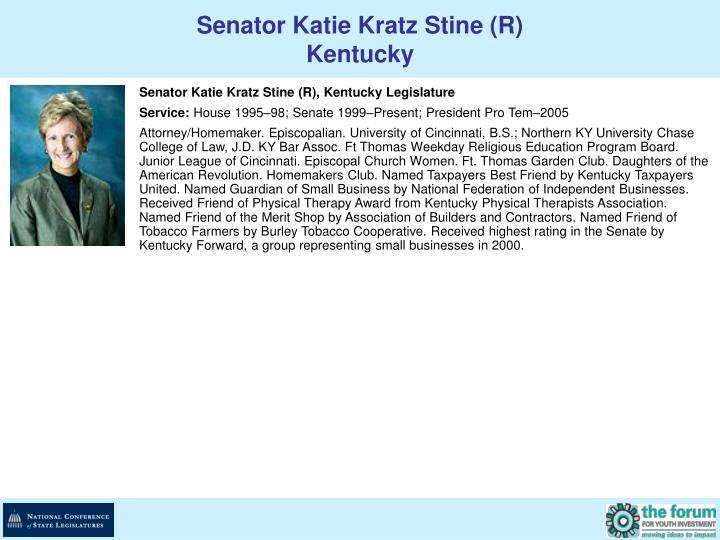 Senator Katie Kratz Stine (R)