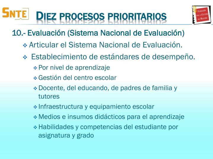 10.- Evaluación (
