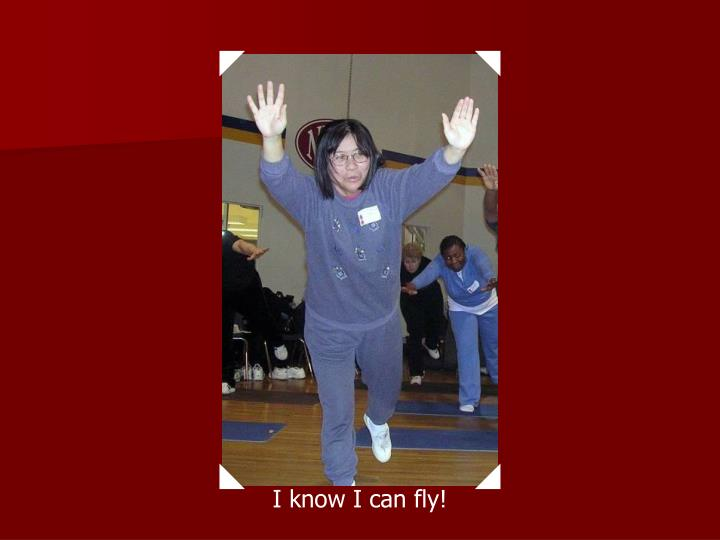 I know I can fly!