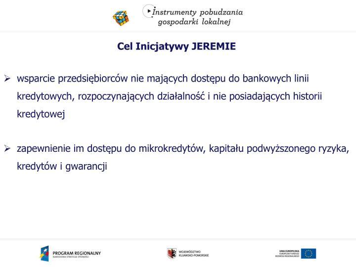 Cel Inicjatywy JEREMIE