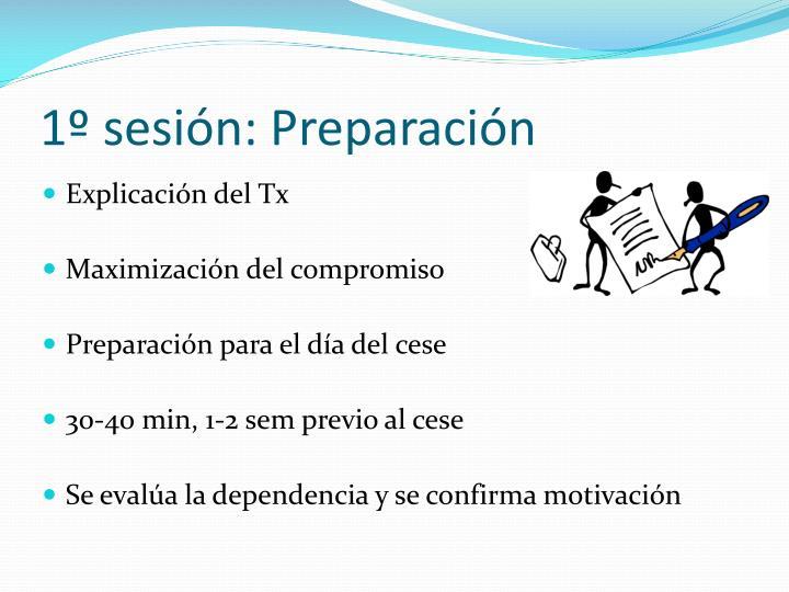 1º sesión: Preparación