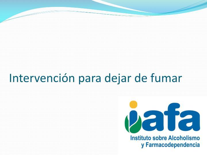 Intervención para dejar de fumar