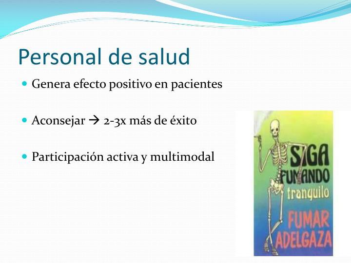 Personal de salud