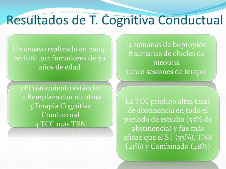 Resultados de T. Cognitiva Conductual