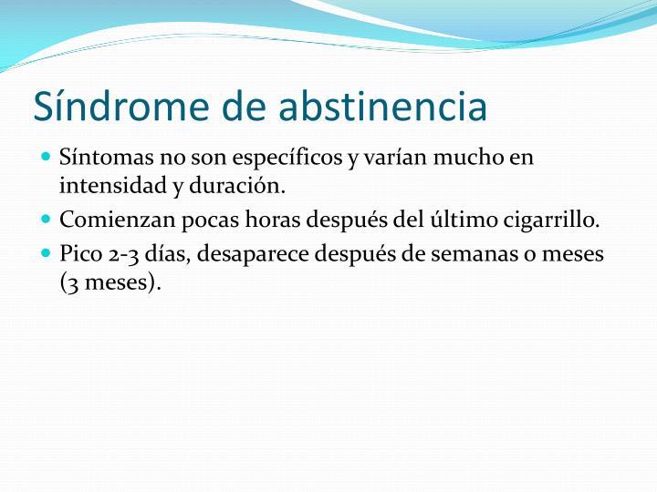 Síndrome de abstinencia