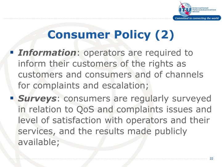 Consumer Policy (2)