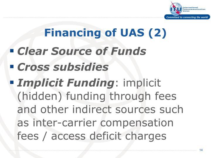 Financing of UAS (2)