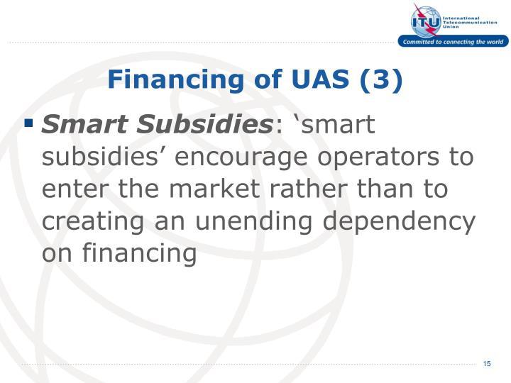 Financing of UAS (3)
