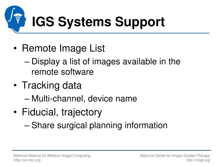 IGS Systems Support