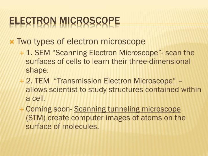 Two types of electron microscope