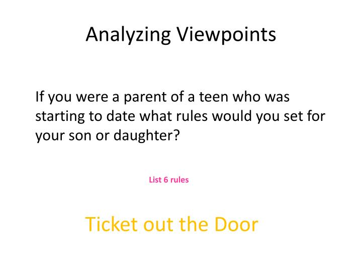 Analyzing Viewpoints