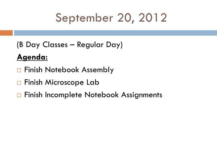 September 20, 2012