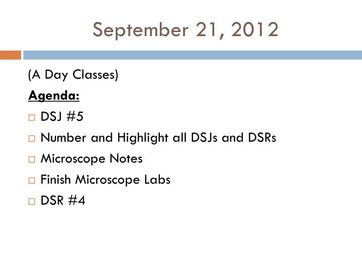 September 21, 2012