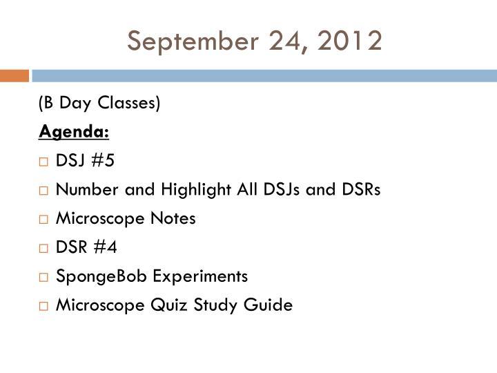 September 24, 2012