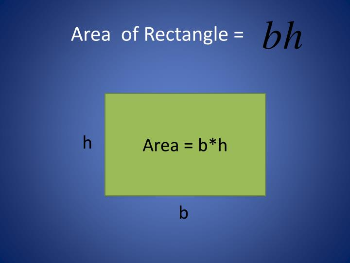 Area  of Rectangle =
