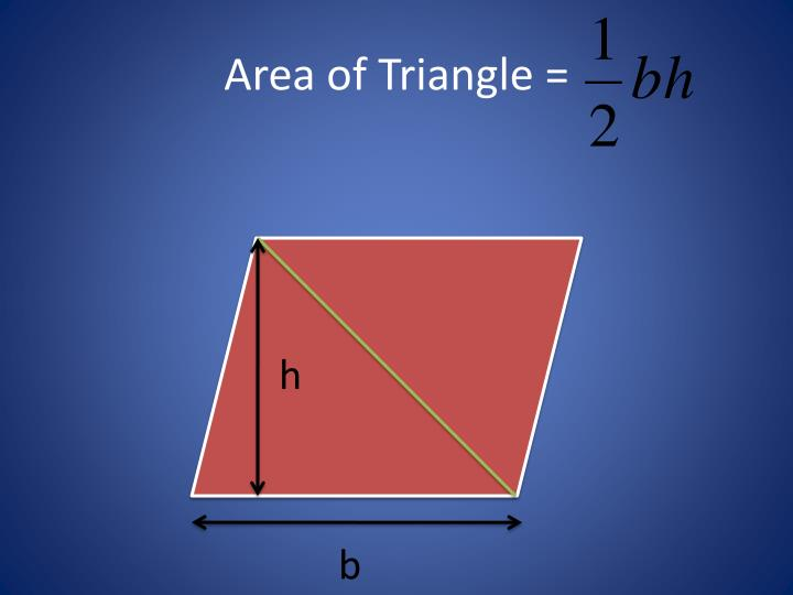 Area of Triangle =