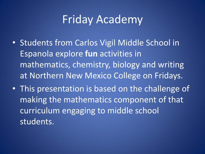 Friday academy