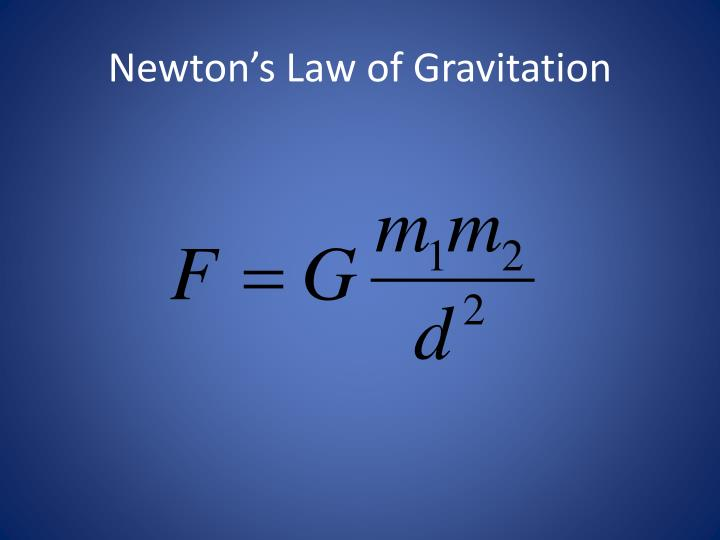 Newton's Law of Gravitation