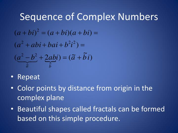 Sequence of Complex Numbers