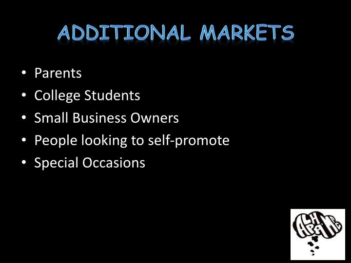Additional Markets