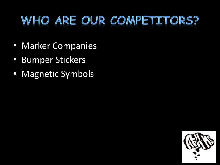 Who Are Our Competitors?