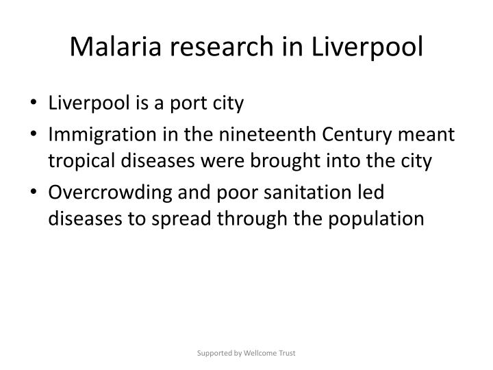 Malaria research in Liverpool
