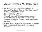 malawi liverpool wellcome trust