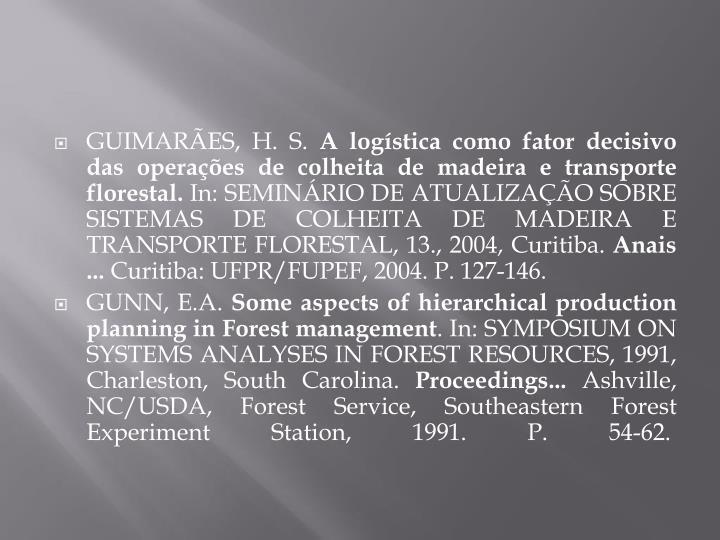 GUIMARÃES, H. S.