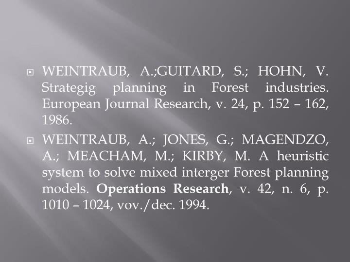 WEINTRAUB, A.;GUITARD, S.; HOHN, V.