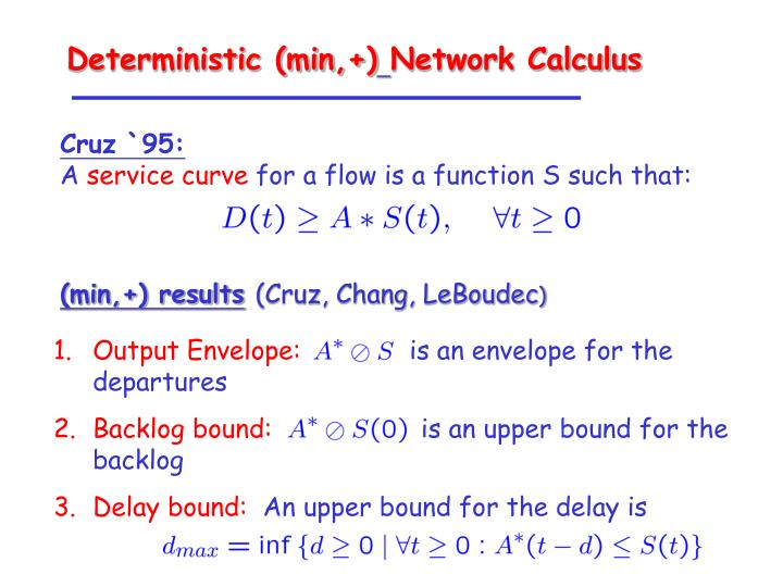 Deterministic (min,+)