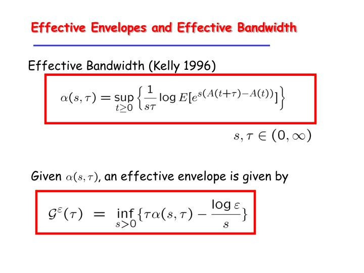 Effective Envelopes and Effective Bandwidth