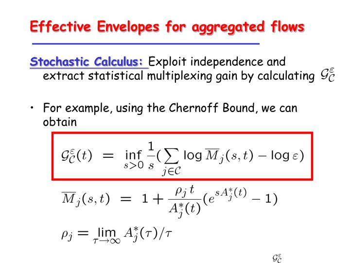 Effective Envelopes for aggregated flows