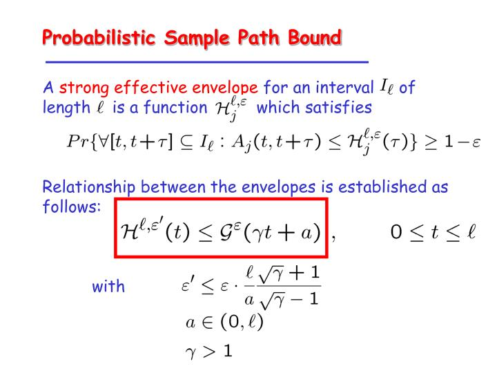 Probabilistic Sample Path Bound