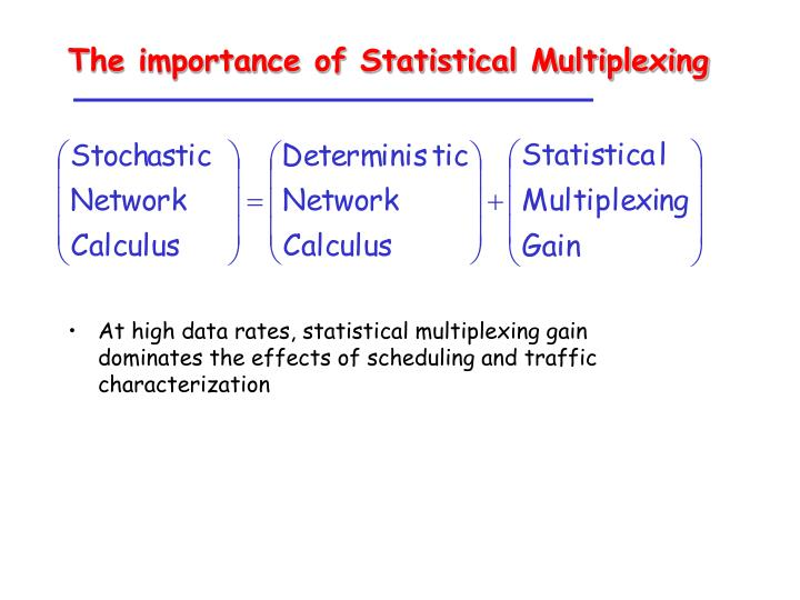 The importance of Statistical Multiplexing