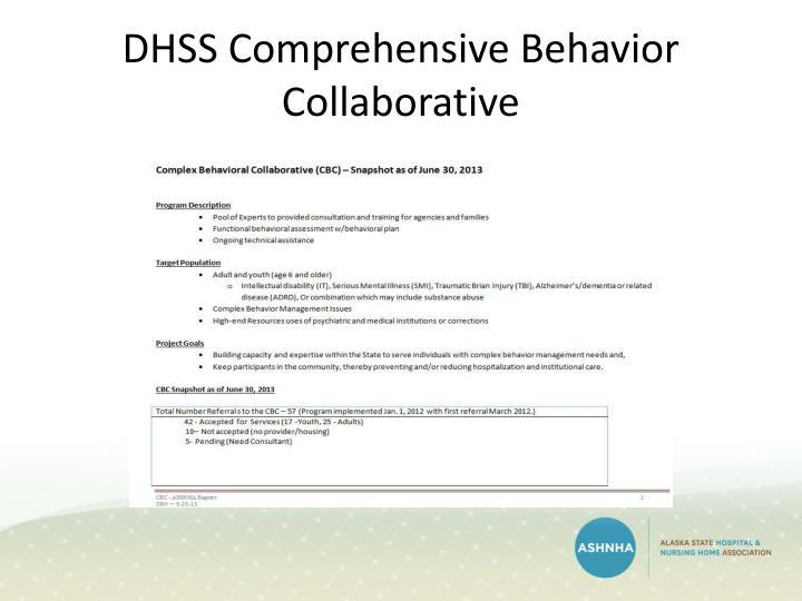 DHSS Comprehensive Behavior Collaborative
