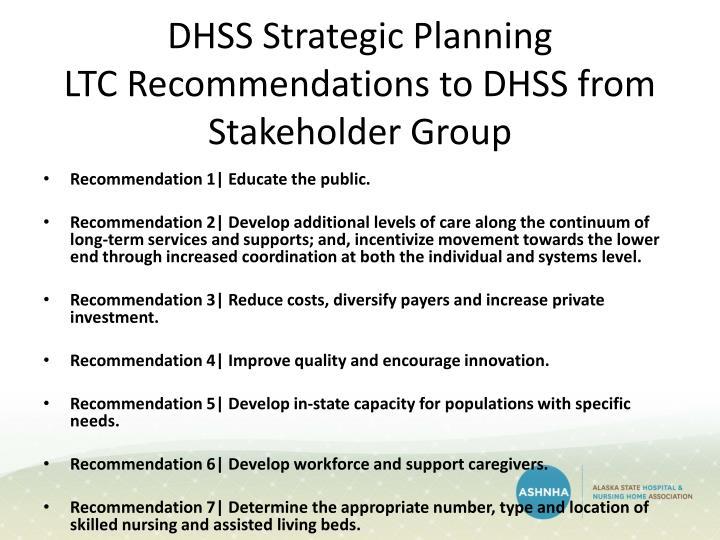 DHSS Strategic Planning