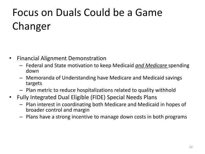 Focus on Duals Could be a Game Changer
