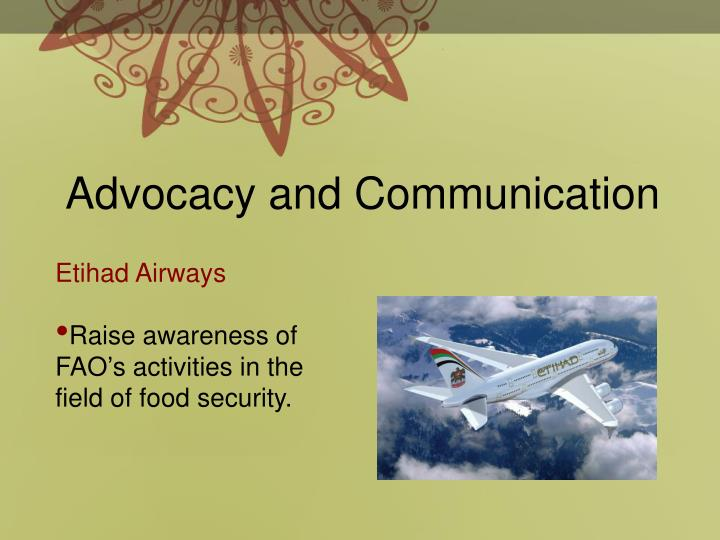 Advocacy and Communication