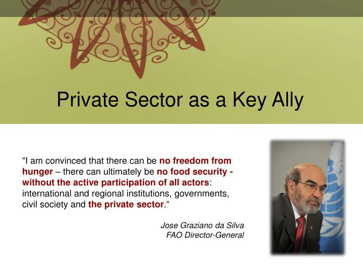 Private Sector as a Key Ally