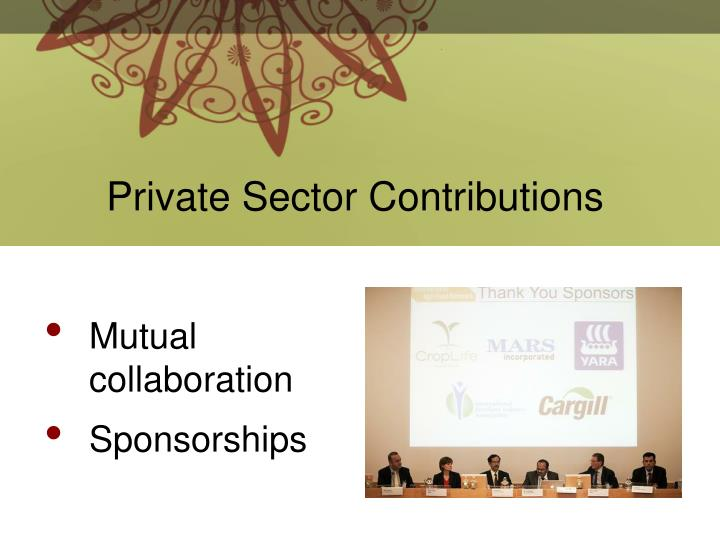 Private Sector Contributions