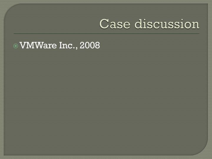 Case discussion