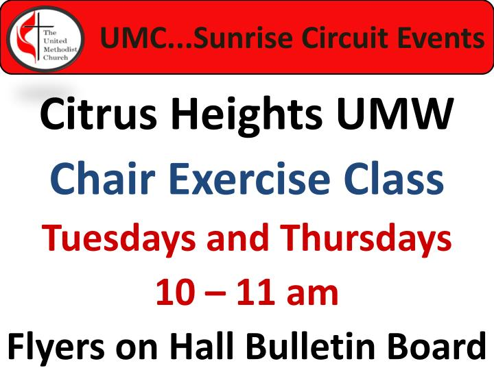 UMC...Sunrise Circuit Events