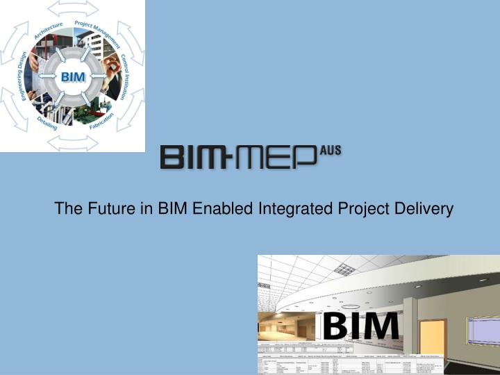 The Future in BIM Enabled Integrated Project Delivery