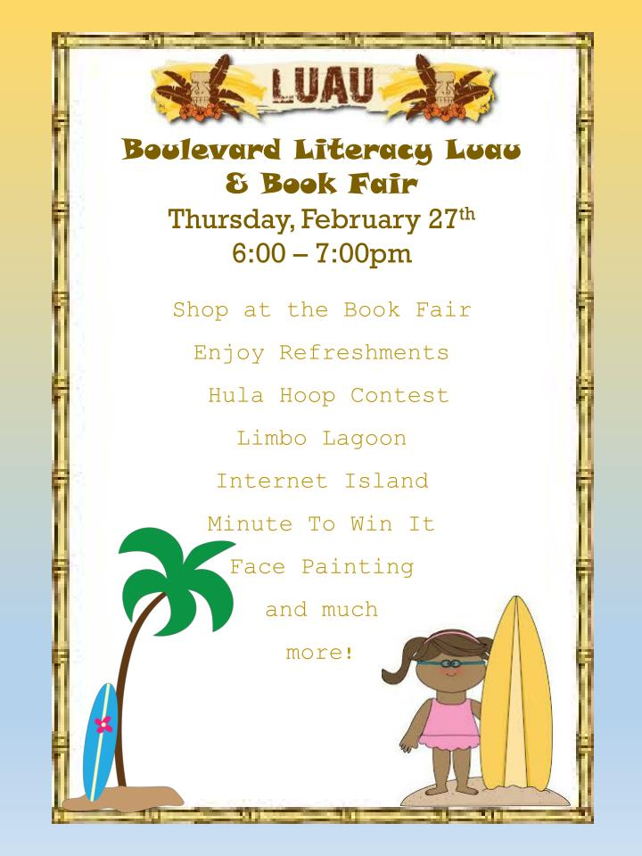 Boulevard Literacy Luau & Book Fair