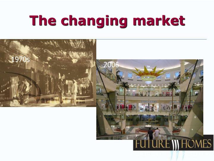 The changing market