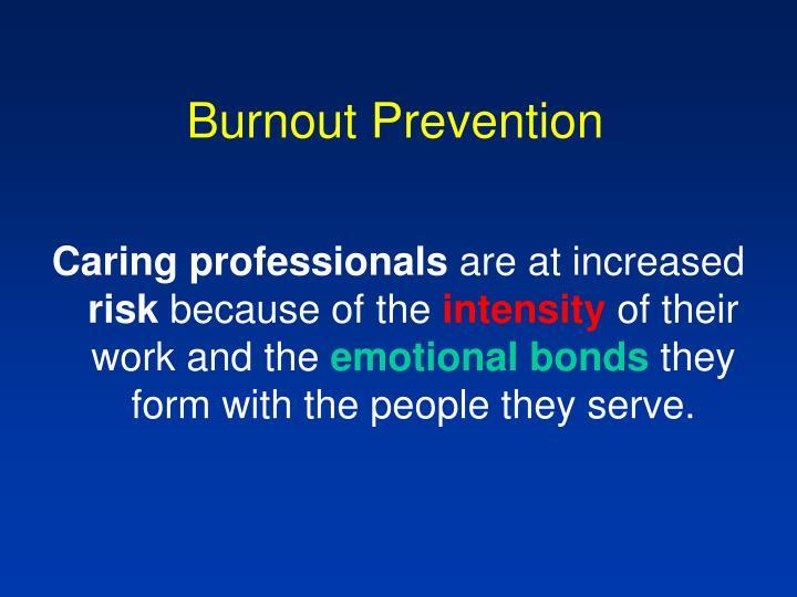 Burnout Prevention