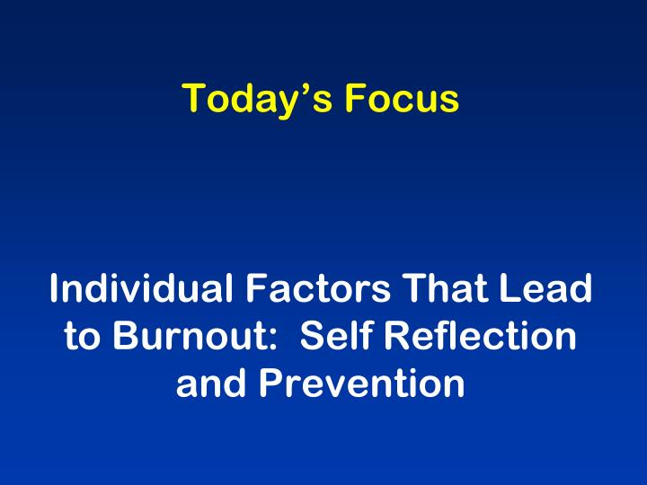 Today's Focus