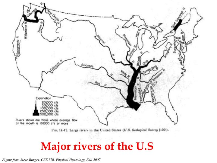 Major rivers of the U.S